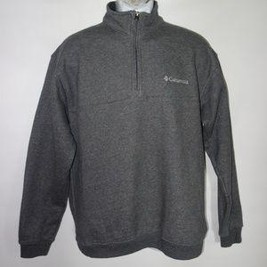 Columbia 1/4 Zip Gray Pullover Collar Sweatshirt M